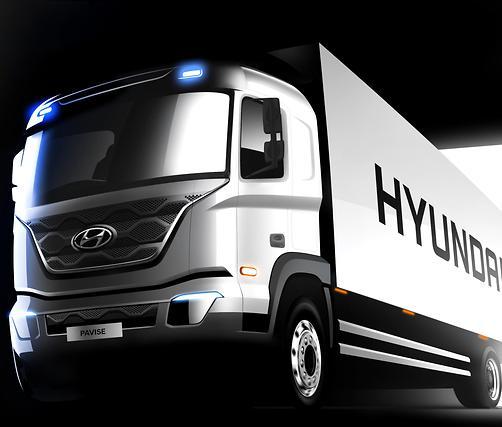 현대차 준대형 트럭 '파비스', 렌더링 이미지 공개