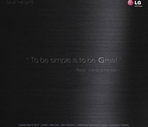 LG G3, 다음달 27일 글로벌 공개.. 초대장 발송