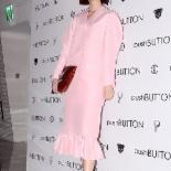 [포토] 송경아 '귀여운 핑크빛 패션'