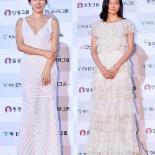 [ST포토] '대종상영화제' 손예진 vs 이솜, 화이트 드레스 누가 예쁜가?