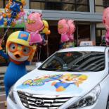 '뽀로로 택시' 서울 시내 달린다