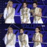 '가요대전' 2NE1, 박봄 없이 여자그룹상 수상..소감 언급NO