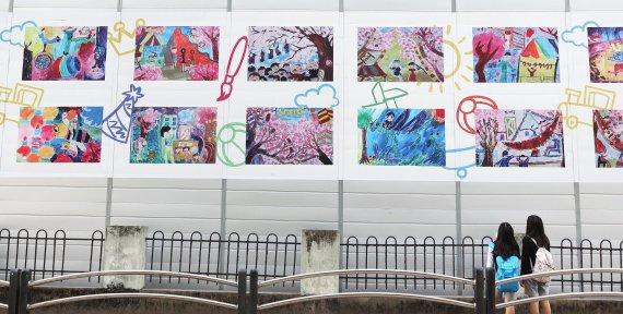 """삼성물산 """"건설 현장 가림벽을 갤러리로"""" - 파이낸셜뉴스"""