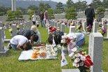 국립서울현충원 묘역 찾은 참배객