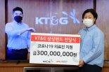 KT&G, 희망브리지에 코로나19 의료진 지원 성금 3억원 기부