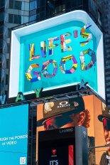 LG전자, 美 맨해튼서 3D 콘텐츠로 'Life's Good' 메시지 전해