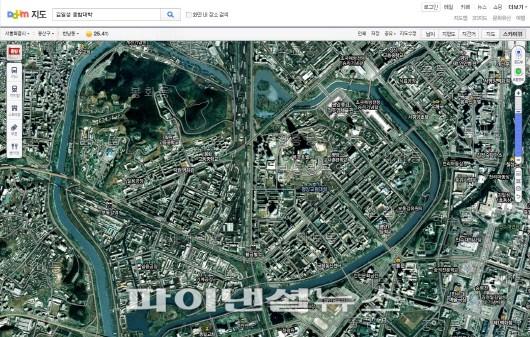 다음, 북한 지도 및 스카이뷰 서비스..해상도 높여