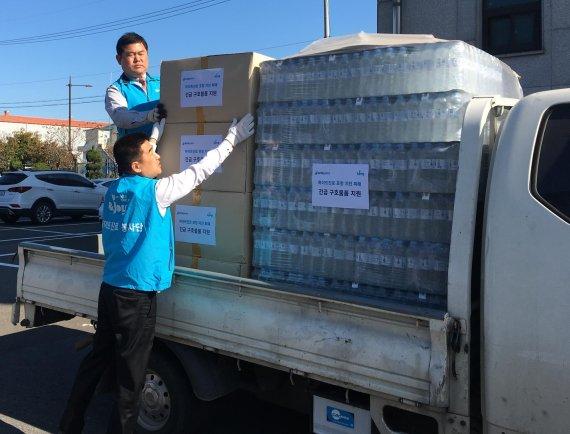 하이트진로, 지진 피해지역 포항에 생필품 긴급 지원
