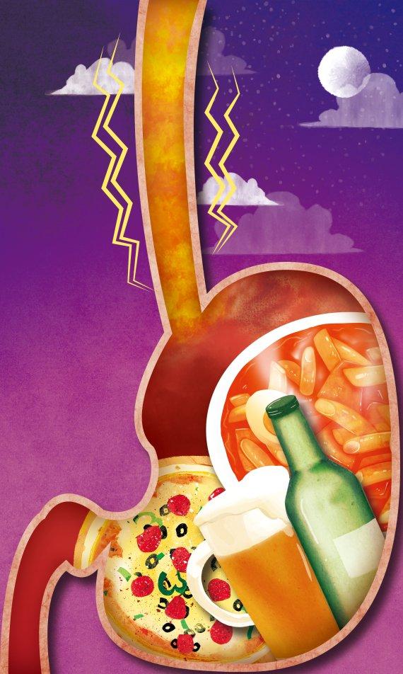 [yes+ Health] 역류성 식도염 늦은 밤 술·야식이 주범