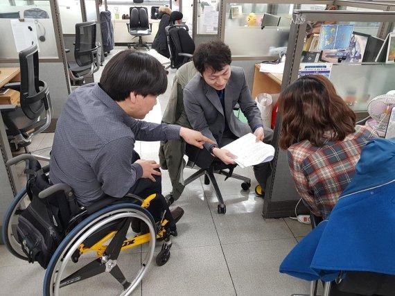 [현장 르포] '장애인표준사업장' 인증받은 에스원CRM, 장애인 직원에 주력 업무 배치.관리자 승진 등 동등 기회