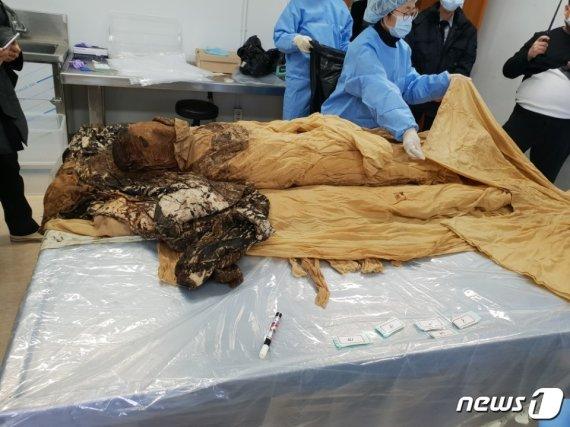 경북 구미서 발견된 400년 전 미라, 누군지 알고보니..
