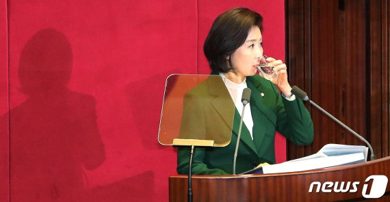 """""""文대통령, 김정은 수석대변인"""".. 국회 발칵 뒤집은 나경원"""