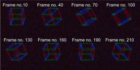 안경 없이 3차원 홀로그래픽 디스플레이 재생한다