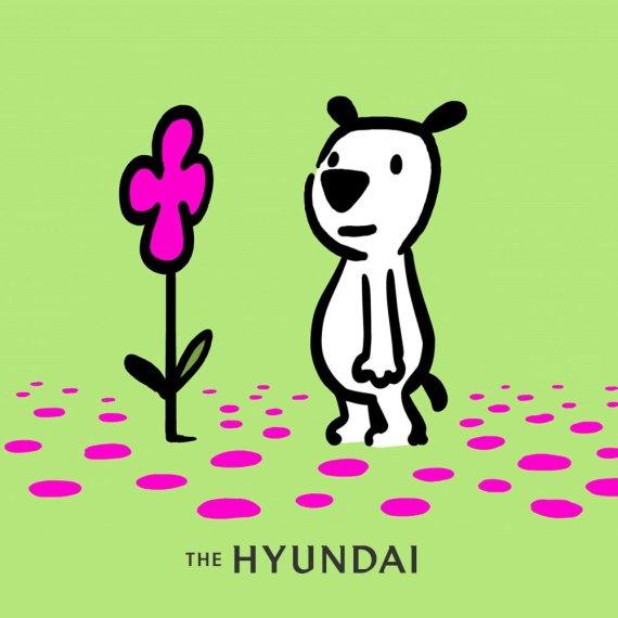 현대百, 강아지 모델로 캐릭터 '흰디' 선봬