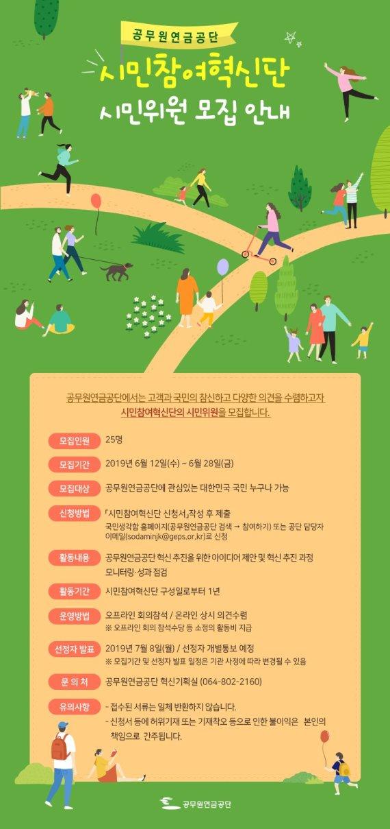 공무원연금공단, 혁신 협업 '시민참여혁신단' 모집