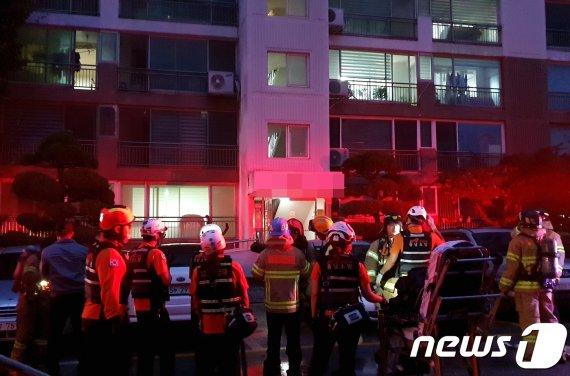 천안 아파트서 방화 추정 화재.. 성인 남녀 시신 발견된 곳