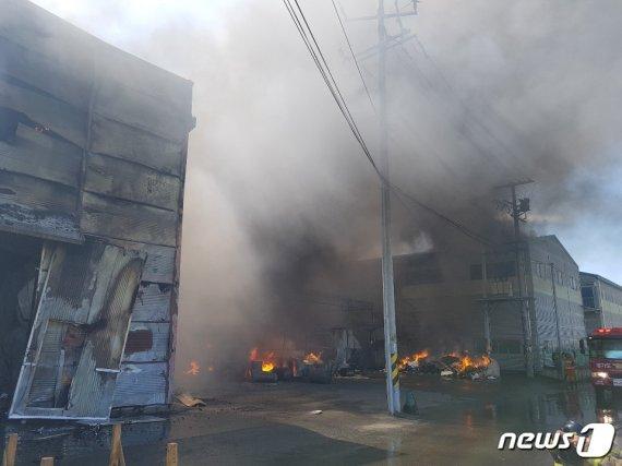 김포 공장 화재 1시간여 만에 진화.. 인명피해 없어