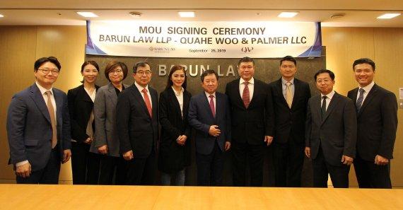 [로펌소식]바른, 싱가포르 로펌 QWP와 업무협약