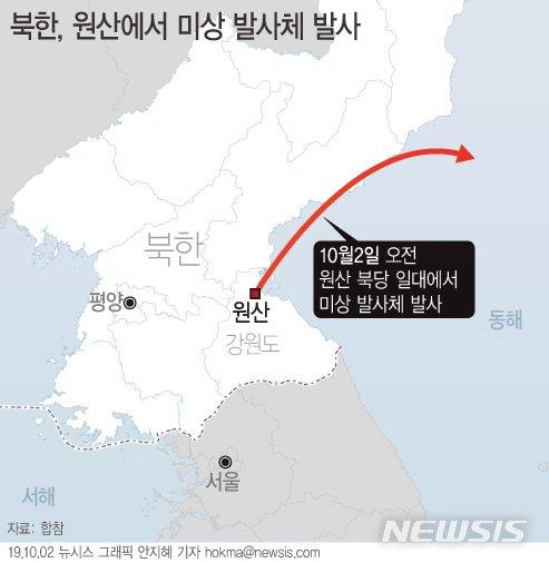 北발사체 한일 분석 달라…韓은 1발·日은 2발