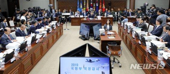 """'안보 국감' 북핵·SLBM 쟁점…與 """"제재해제"""" 野 """"적대행위"""""""