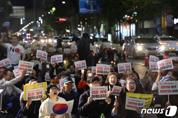 '검찰개혁' 3차 촛불집회 19일 광주지검 앞에서