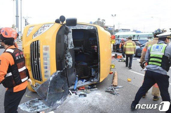 고3학생 사망한 '통학버스 교통사고' 운전자, 구속 송치