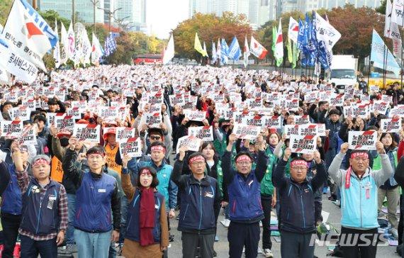 민주노총 여의도 대규모 집회.. 교통 혼잡 우려