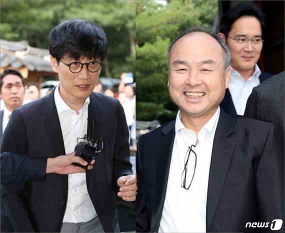 이해진-손정의 4달전 서울 회동…'적과의 동침' 세기의 담판 물꼬 텄나