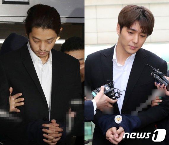 '집단성폭행' 정준영 징역 6년, 최종훈 징역5년 1심 선고