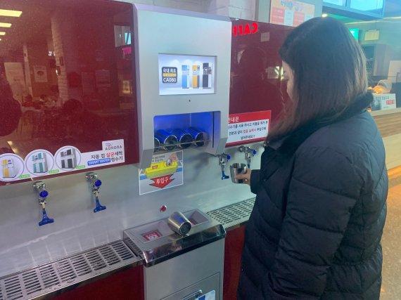 진주휴게소(부산 방향), 깨끗한 컵 제공 '호응'