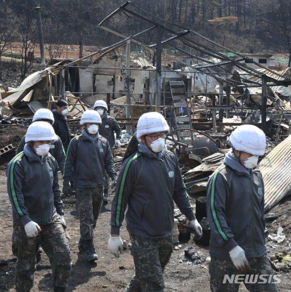 산불 등 올해 잇단 대형 재난에 軍 대민 지원도 분주