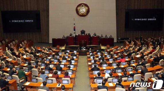 정세균 총리 인준안·검찰개혁법·유치원3법 '본회의 가결'