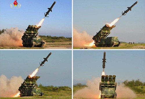 김일성 생일 하루앞둔 北, 순항미사일 쏘고 전투기 띄워