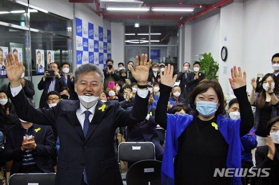 '與 압승' 견인한 충청권, 28석 중 민주당 20석 싹쓸이(종합)