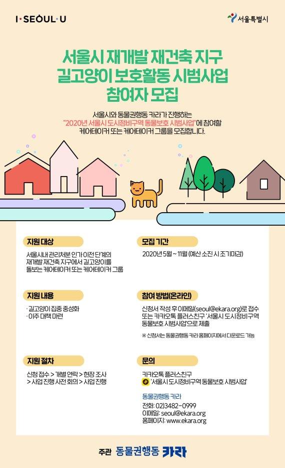 서울시, 카라와 재개발‧재건축 지역 길고양이 생존 대책 찾는다