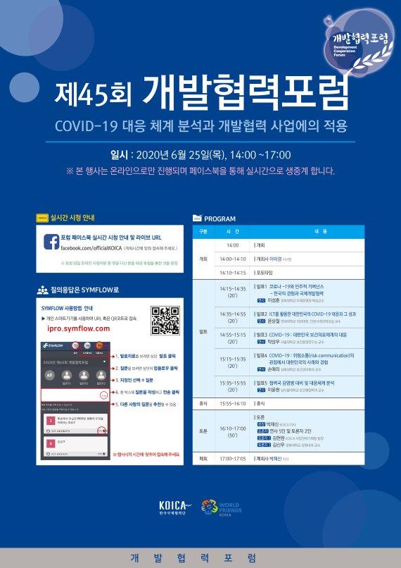 코이카, 韓 코로나19 대응체계 개발협력과 융합, 포럼 개최