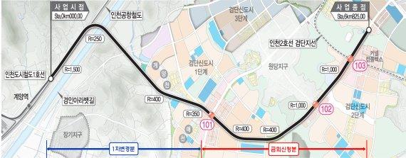 인천도시철도 1호선 검단연장사업 정부 승인