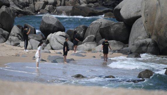 [네모이야기]사천해변의 여름 풍경