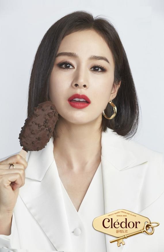 빙그레, 아이스크림 끌레도르 모델로 김태희 발탁