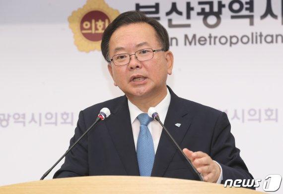 """김부겸 """"통합당, 누가 누구더러 독재라고 눈 부라리나"""""""