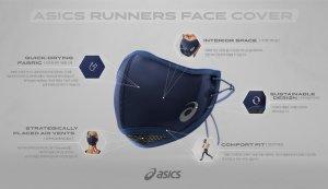 아식스, 달리기 특화 마스크 개발..9월 국내 출시