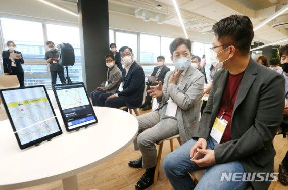 """카카오T 찾은 과기정통부 """"앱미터기 출시로 모빌리티 크게 성장할 것"""""""