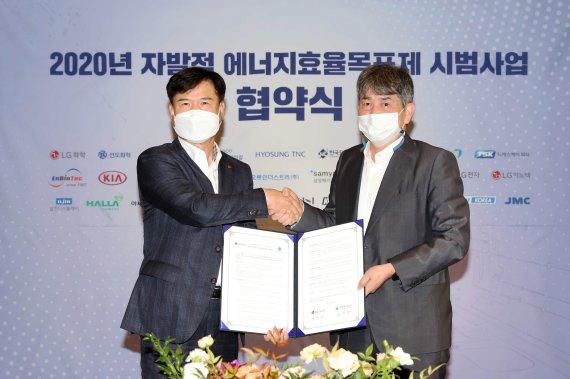 에너지공단, 자발적 에너지효율목표제 시범사업 협약