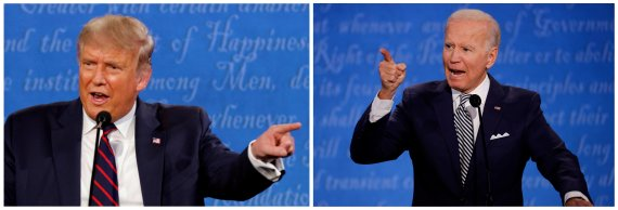 바이든 대통령? 첫 TV토론 후 바이든 54%·트럼프 41%