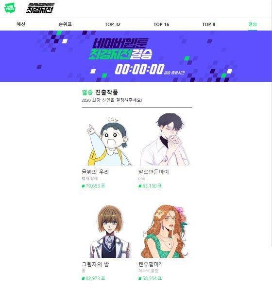 청강대 재학생 '융'작가, '그림자의 밤'으로 2020 네이버웹툰 최강자전 수상