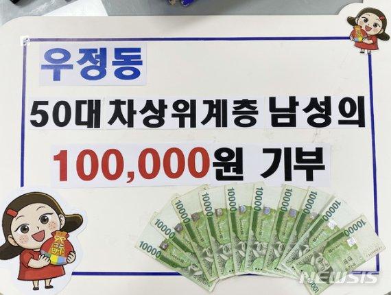 1000원씩 모아 10만원 기부한 50대 차상위자