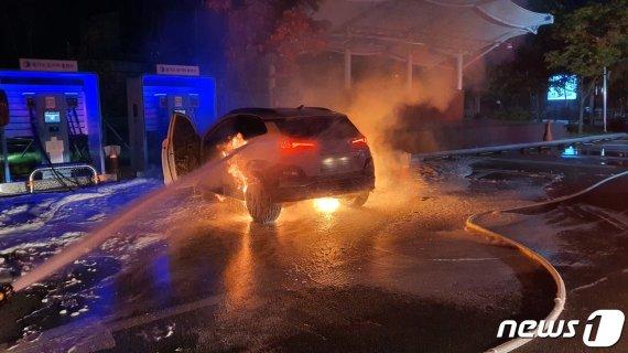 충전중인 전기차 '코나' 또 화재…벌써 14번째