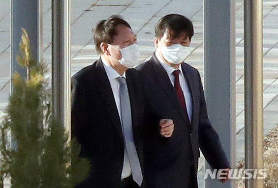진천 법무연수원 윤 총장 방문.. 정문에 있던 물건의 정체