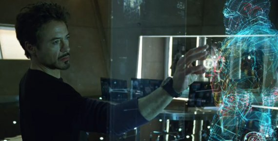영화 '아이언맨' 처럼 손으로 홀로그램 조작한다