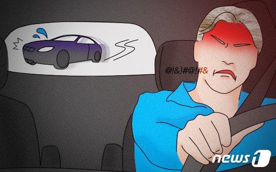 """""""왜 끼어들어"""" 보복운전하다 교통사고 낸 30대의 변명"""